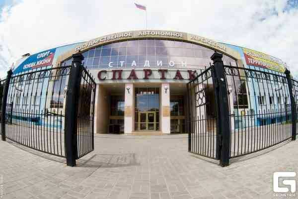 центральный вход на стадион