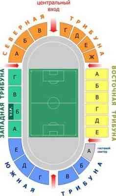 схема стадиона металлург липецк
