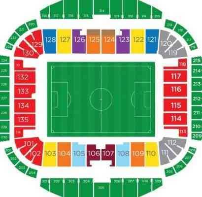 Стадион центральный казань схема 536